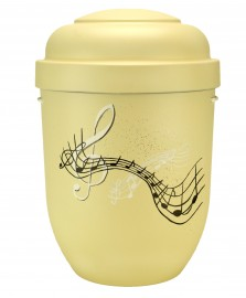 Exclusieve urn met muziek