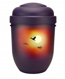 Exclusieve urn met vogels